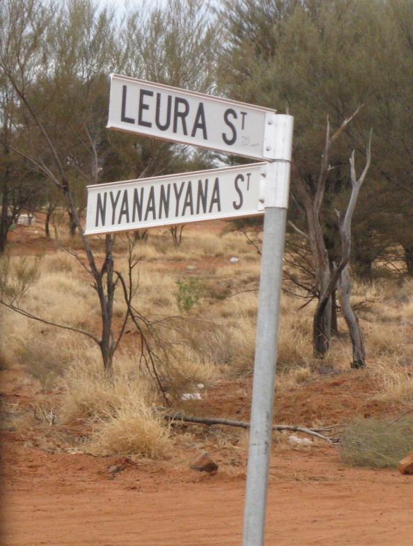 Warumpi (Papunya) Street signs